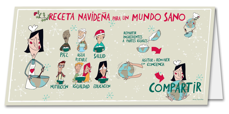 tutticonfetti postal mundo sano aneta tarmokas postal blanca navidad - Postales Originales De Navidad