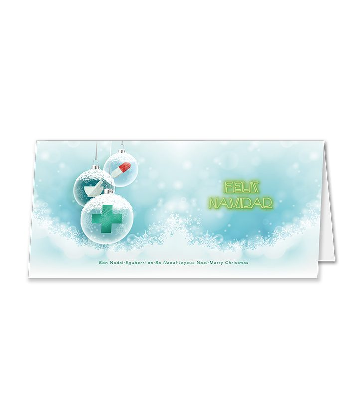 Postal Bolas Navidad